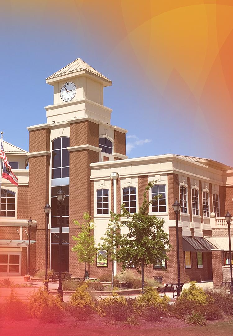 Lilburn GA city hall and library complex