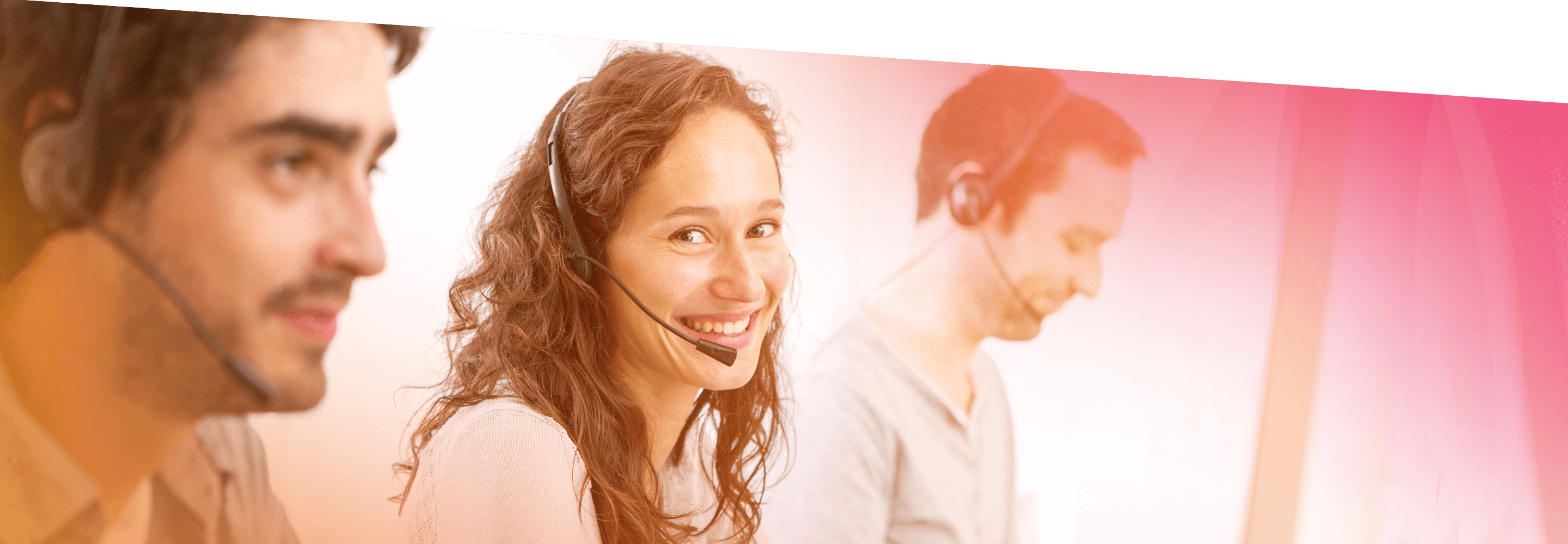 friendly customer service agents work the phones