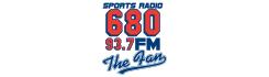 sports radio 680 93.7 FM the fan logo