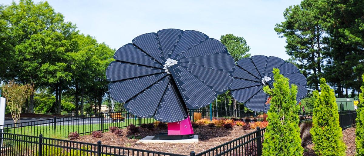Gas South and Cobb EMC Solar Flowers