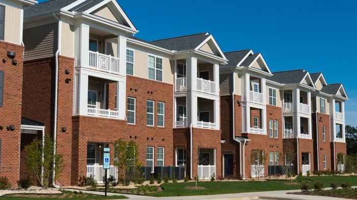 Multifamily apartment community building